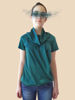 Picture of GREEN COTTON T-SHIRT NAVY, short sleeve