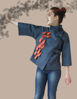 Picture of Kerosene blue jacket LADY with painted details