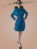 Picture of Asymmetric balloon dress Navy