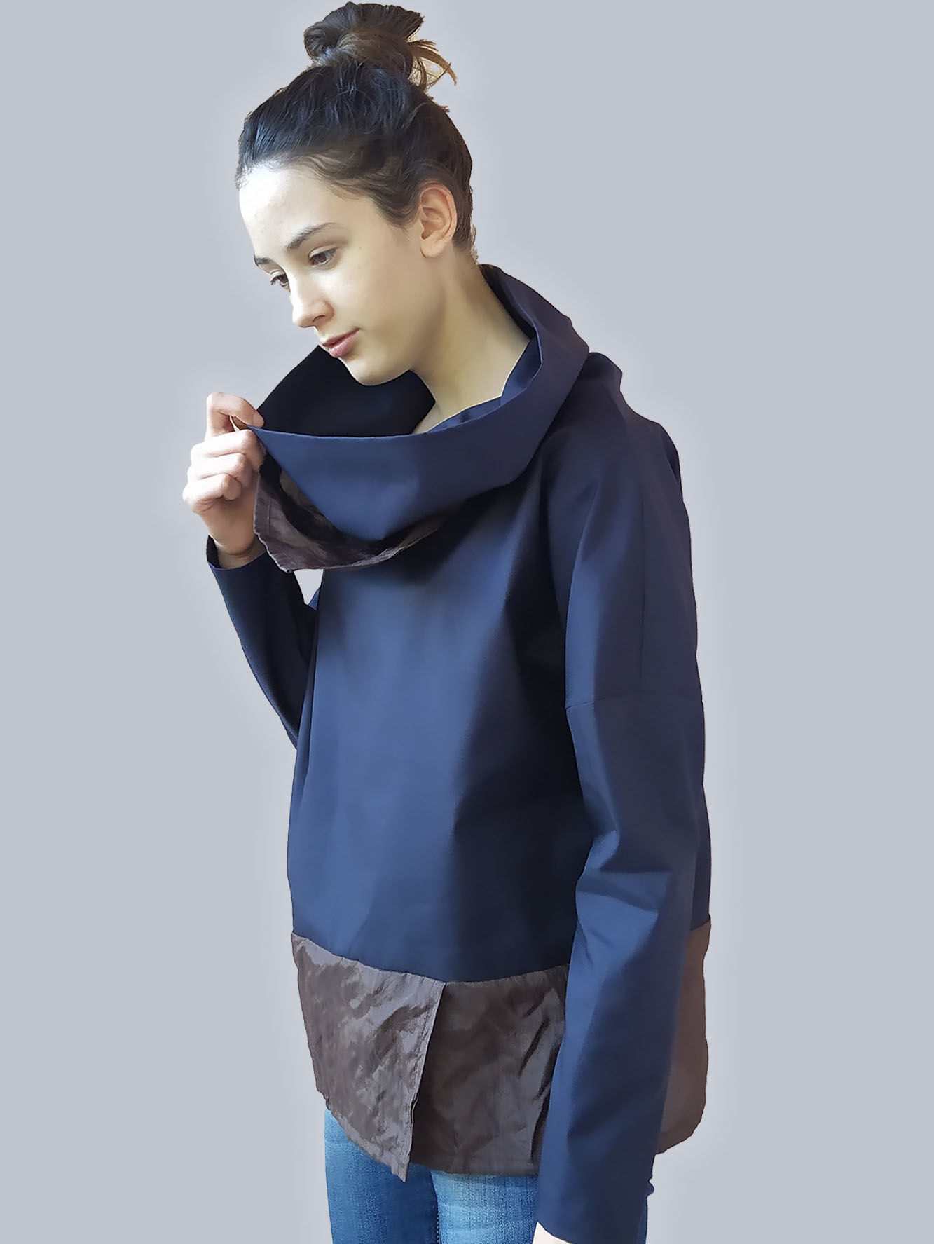 Picture of NAVY BLUE COTTON TUNIC RINA